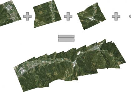 موزاییک عکس های هوایی